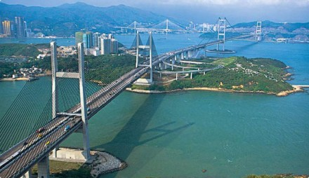 Hong Kong suspension bridges