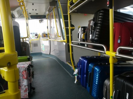 On the A43 bus to Sheung Shui